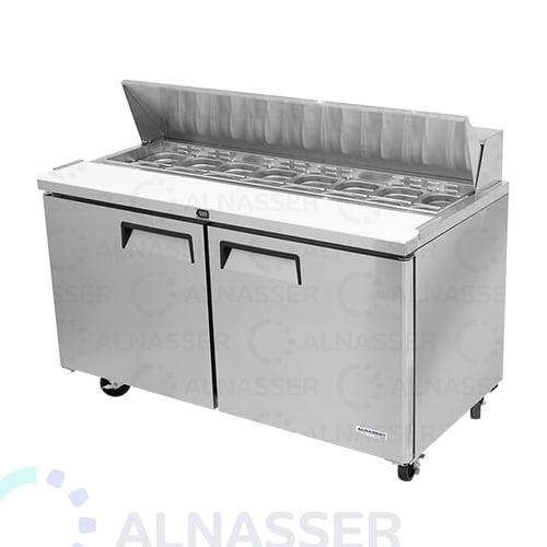 تحضير-بيتزا- ساندوتش-سلطات-أمام-صيني-صحون-مصانع-الناصر- pizza-sandwich-refrigerator-2shelves--alnasser-plates-factories