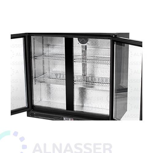 ثلاجة-باك-بار-أسود-بابين-أرفف-مصانع-الناصر-back-bar-refrigerator-alnasser-factories