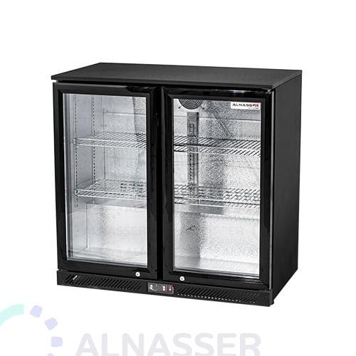 ثلاجة-باك-بار-أسود-بابين-عادية-مصانع-الناصر-back-bar-refrigerator-alnasser-factories
