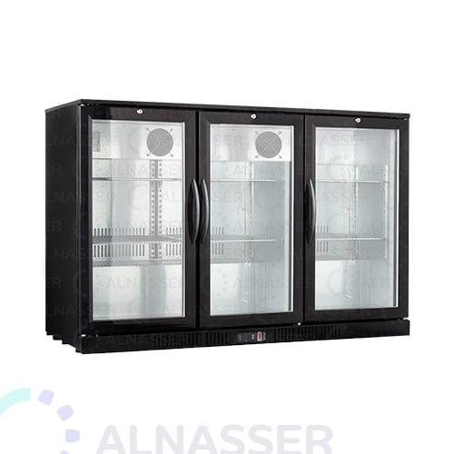 ثلاجة-باك-بار-أسود-3ابواب-مفصلي-خلف-مصانع-الناصر-back-bar-refrigerator-alnasser-factories-close