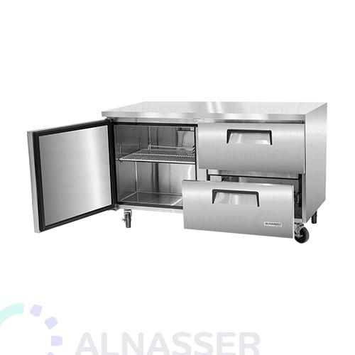 ثلاجة-تخزين-أفقية أفقي--درجين-مصانع-الناصر-undercounter-door-refrigerator-drawers-alnasser-factories