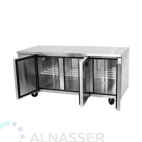 ثلاجة-تخزين-أفقية-ثلاثة-أبواب-رفين-أبواب-مفتوحة-مصانع-الناصر-undercounter-close-refrigerator-alnasser-factories