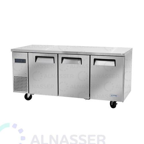 ثلاجة-تخزين-أفقية-ثلاثة-أبواب-رفين-مصانع-الناصر-undercounter-refrigerator-alnasser-factories