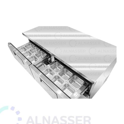 ثلاجة-تخزين-أفقية-4ادراج-أمام-undercounter-refrigerator-4drawers-close-alnasser-factories