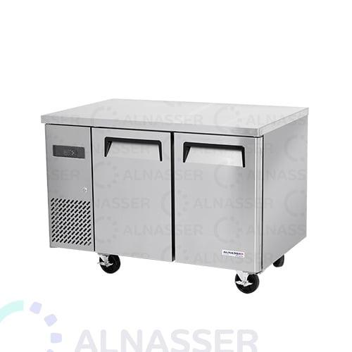 ثلاجة-تخزين أفقي-بابين-مصانع-الناصر- undercounter-refrigerator-2drawers-alnasser-factories