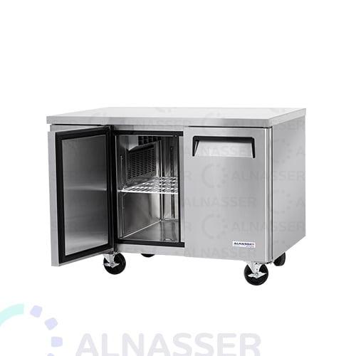 ثلاجة-تخزين أفقي-بابين-مفتوح-مصانع-الناصر-undercounter-refrigerator-2drawers-alnasser-factories