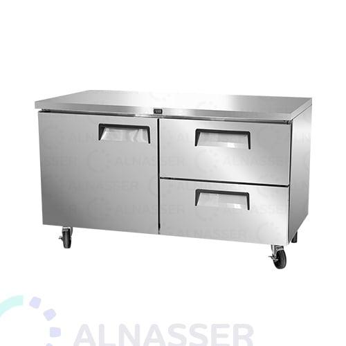 ثلاجة-تخزين أفقي-باب-درجين-مصانع-الناصر- undercounter-door-refrigerator-drawers-alnasser-factories