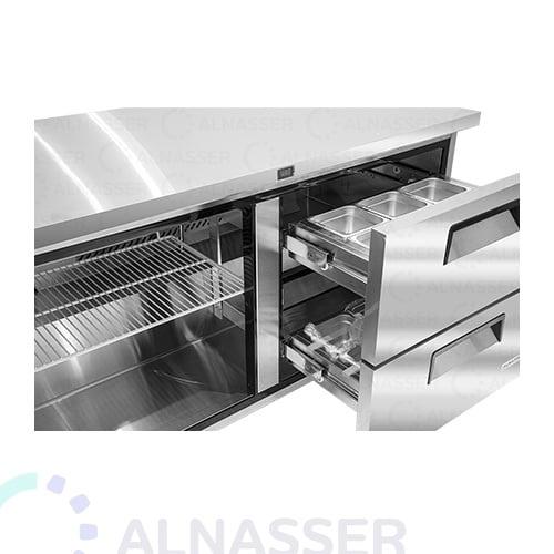 ثلاجة-تخزين أفقي-درجين-مصانع-الناصر- undercounter-door-refrigerator-drawers-alnasser-factories