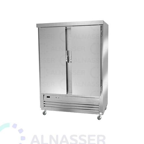 ثلاجة-تخزين-عامودية-بابين-أمام-5أرفف-upright-stainless-steel-fridge-refrigerator-alnasser-factories