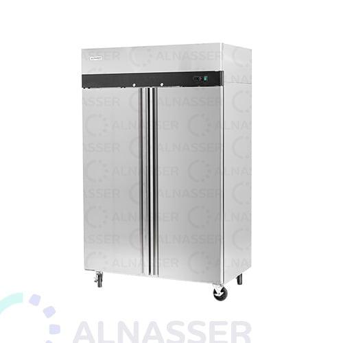 ثلاجة-تخزين-عامودية-بابين-أمام-upright-stainless-steel-fridge-freezer-refrigerator-alnasser-factories