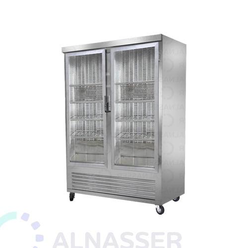 ثلاجة-عرض-لحوم-بابين-أرفف-مصانع-الناصر-meat-display refrigerator-alnasser-factories