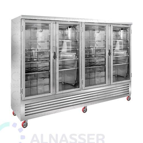 ثلاجة-عرض-لحوم-4أبواب-أرفف-مصانع-الناصر-meat-display refrigerator-close-alnasser-factories