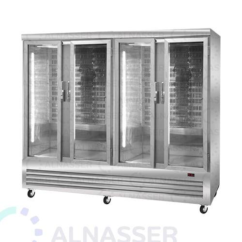 ثلاجة-عرض-لحوم-4أبواب-تعليق-مصانع-الناصر-meat-display refrigerator-close-alnasser-factories