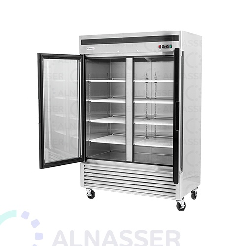 ثلاجة-عرض-5أرفف-بابين-عامودية-باب-زجاج-باب-مفتوح-مصانع-الناصر-UPRIGHT-DISPLAY-CHILLER-refrigerator-close-alnasser-factories