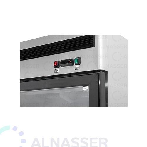 ثلاجة-عرض-5أرفف-بابين-عامودية-باب-زجاج-لوحة-تحكم-مصانع-الناصر-UPRIGHT-DISPLAY-CHILLER-refrigerator-close-alnasser-factories