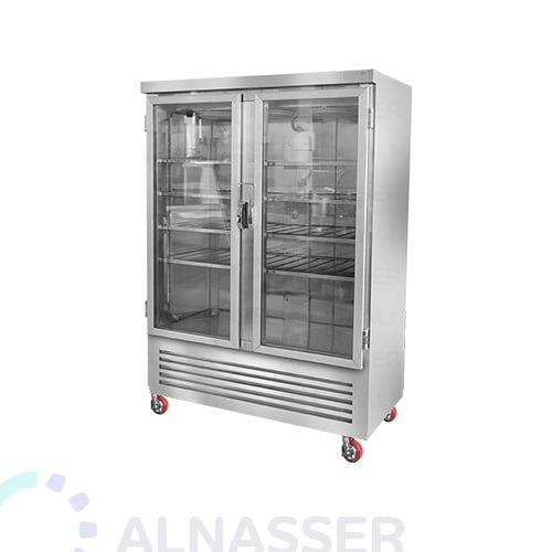 ثلاجة-عرض-5أرفف-بابين-عامودية-DISPLAY-CHILLER-refrigerator-alnasser-factories
