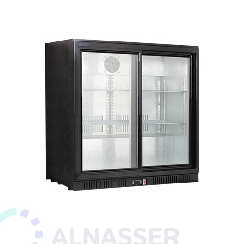 ثلاجة-باك-بار-أسود-بابين-سحب-أمام-مصانع-الناصر-back-bar-refrigerator-alnasser-factories
