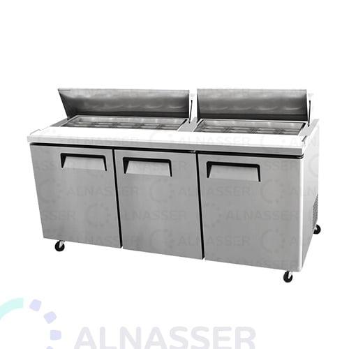 ثلاجة-تحضير-بيتزا-3أبواب-مصانع-الناصر-خلف-pizza-display-refrigerator-2shelves-alnasser-factories