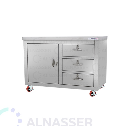 خزانة-خدمة بدولاب-وأدراج-كفرات-مصانع-الناصر-service-table-alnasser-factories
