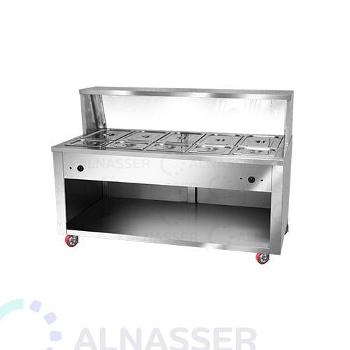 سخان-طعام-بقاعدة-5صحون-صغير-5صحون-كبير-خلف-مصانع-الناصر-food-heate-close-alnasser-factories