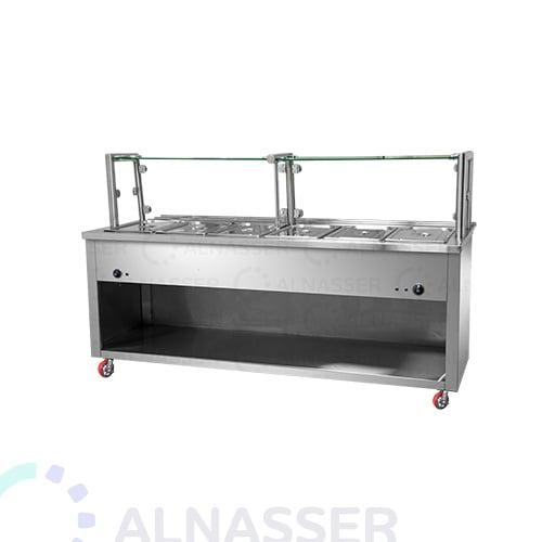 سخان-طعام-كاونتر-مزدوج-خلف-مصانع-الناصر-food-heater-close-with-counter- alnasser-factories