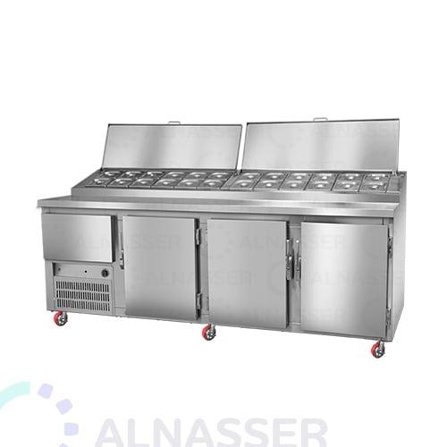 ثلاجة-تحضير-بيتزا-4أبواب-مصانع-الناصر-خلف-pizza-display-refrigerator-2shelves-alnasser-factories