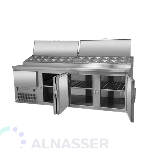 ثلاجة-تحضير-بيتزا-4أبواب-مصانع-الناصر-pizza-display-refrigerator-2shelves-alnasser-factories