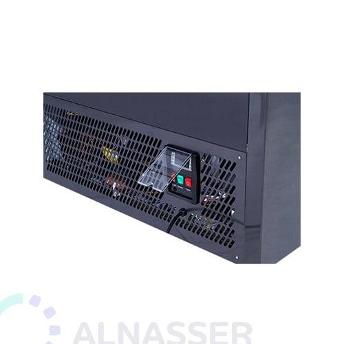 ثلاجة-عرض-حلويات-تيتانيوم-أسود-أمام-صيني-display-refrigerator-black-titanium-alnasser-factories