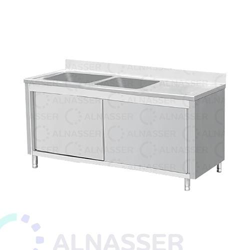 مغسلة-حوضين-ومجلى-وخزانة-مصانع-الناصر-sink-alnasser-factories