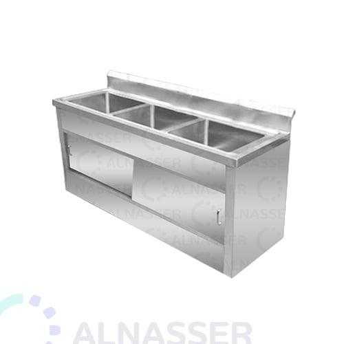 مغسلة-خزانة-3أحواض-3حنفيات-مصانع-الناصر-sink-alnasser-factories