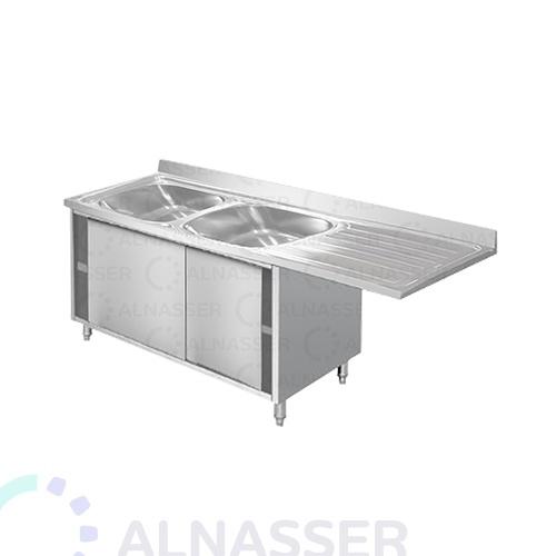 مغسلة-مجلى-حوضين-خزانة-رفين-مصانع-الناصر-sink-alnasser-factories