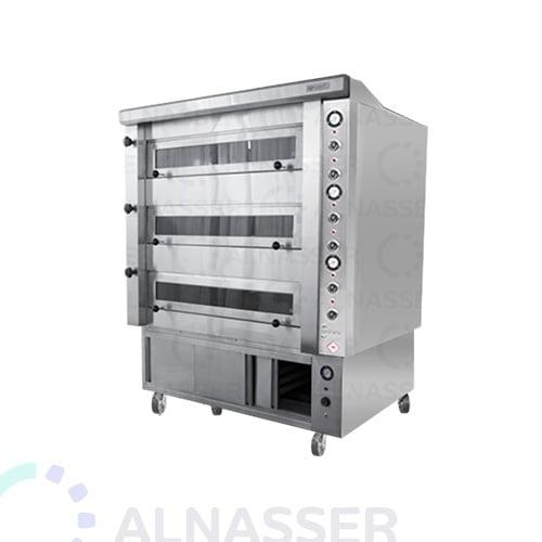 فرن-كهربائي-للبيتزاوالمعجنات-مع-خمار-3طوابق-electrician-oven-alnasser-factories