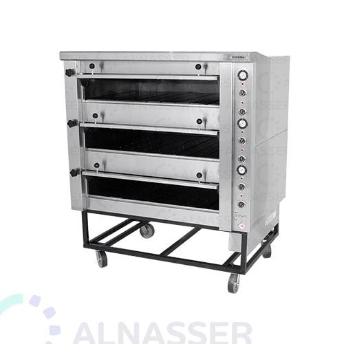 فرن-كهربائي-للبيتزاوالمعجنات-3طوابق-electrician-oven-open-alnasser-factories
