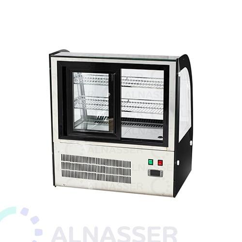 ثلاجة-عرض-حلويات-ملفوف-أسود-أمام-صيني-على-الطاولة-66سم-display-refrigerator-black-back-alnasser-factories