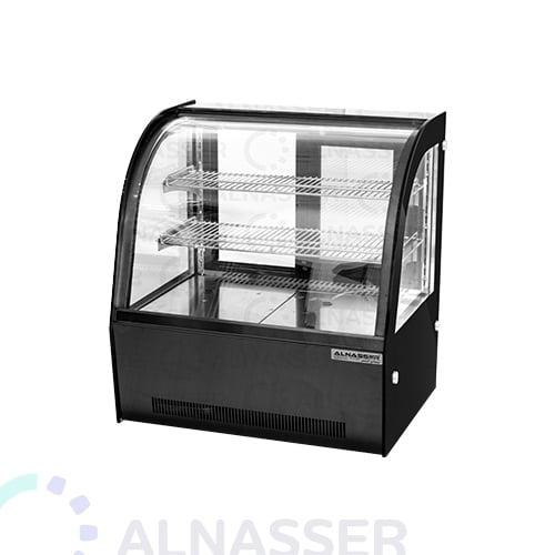 ثلاجة-عرض-حلويات-ملفوف-أسود-أمام-صيني-على-الطاولة-66سم-display-refrigerator-black-titanium-alnasser-factories