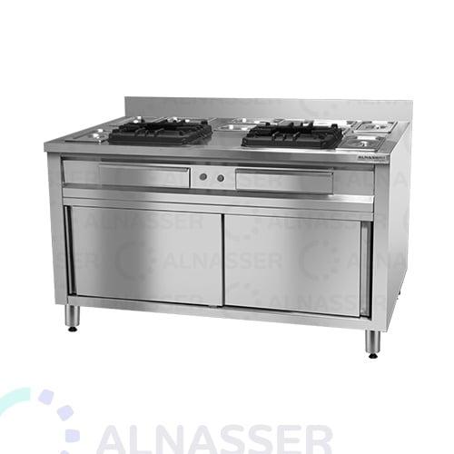 موقد-غاز-بدولاب-صحون-شعلتين-مصانع-الناصر-gas-stove-alnasser-factories