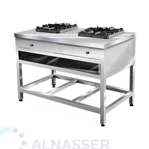 موقد-غاز-بقاعدة-شعلتين-مصانع-الناصر-gas-stove-alnasser-factories