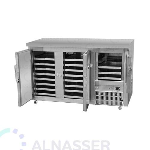 ثلاجة-بروست-بدون- كاونتر-3أبواب-خلف-مصانع-الناصر-broasted- refrigerator-opened-alnasser-factories