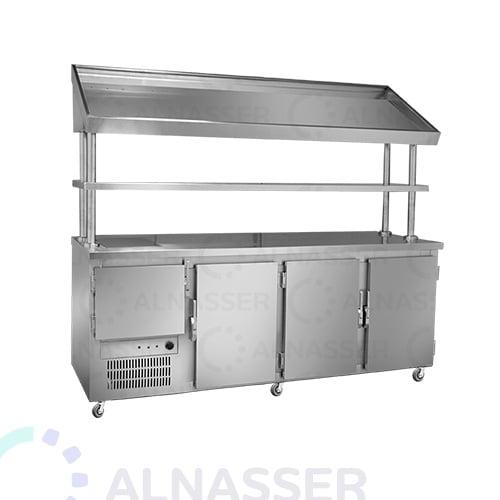 ثلاجة-بروست-مع-كاونتر-خبز-البيك-مصانع-الناصر- broasted- refrigerator-alnasser-factories