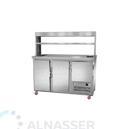 ثلاجة-بروست-مع- كاونتر-عادي-3أبواب-خلف broasted- refrigerator-alnasser-factories