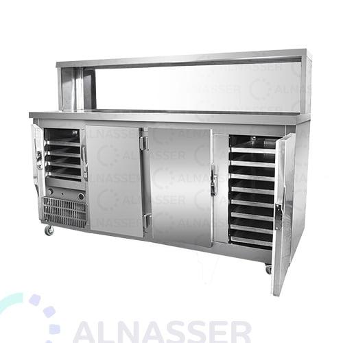 ثلاجة-بروست-مع-كاونتر-عادي-4أبواب-broasted- refrigerator-alnasser-factories