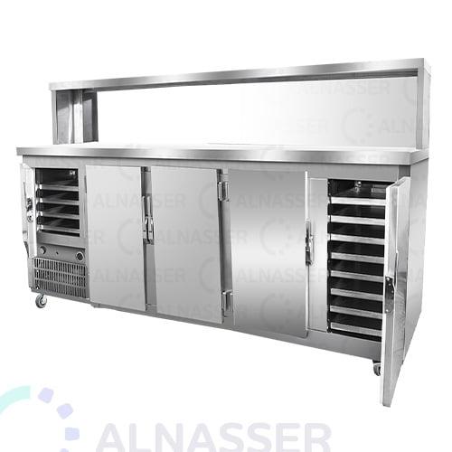 ثلاجة-بروست-مع-كاونتر-عادي-5أبواب-broasted- refrigerator-alnasser-factories