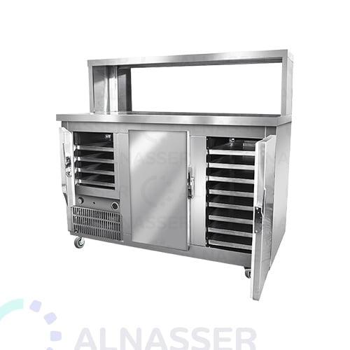 ثلاجة-بروست-مع-كاونتر-عادي-broasted- refrigerator-alnasser-factories
