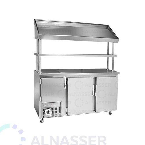 ثلاجة-بروست-3أبواب-مع-كاونتر-خبز-البيك-مصانع-الناصر- broasted- refrigerator-alnasser-factories