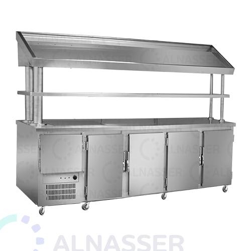 ثلاجة-بروست-5أبواب-مع-كاونتر-خبز-البيك-مصانع-الناصر- broasted- refrigerator-alnasser-factories