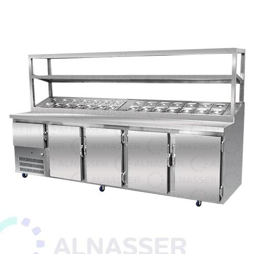 ثلاجة-تحضير-بيتزا-5أبواب-وطني مصانع-الناصر-pizza-display-refrigerator-alnasser-factories