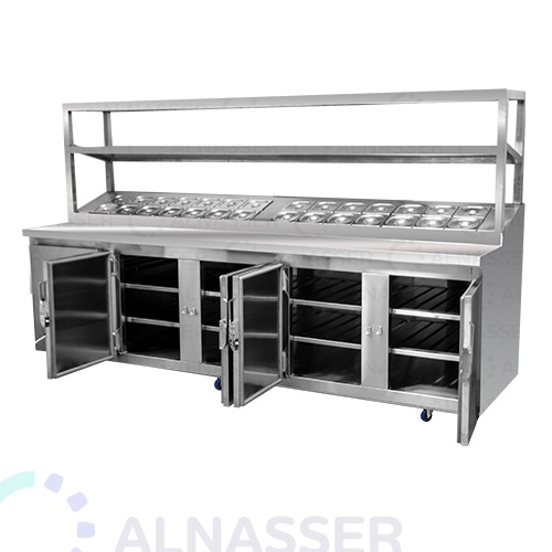 ثلاجة-تحضير-بيتزا-5أبواب-وطني مصانع-الناصر-pizza-display-refrigerator-open-alnasser-factories