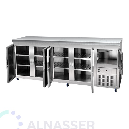 ثلاجة-تخزين-أرضية-5أبواب-مصانع-الناصر-undercounter-refrigerator-opened-alnasser-factories