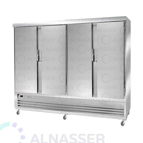 ثلاجة-تخزين-عامودية-3أبواب-أمام-5أرفف-upright-stainless-steel-fridge-refrigerator-alnasser-factories