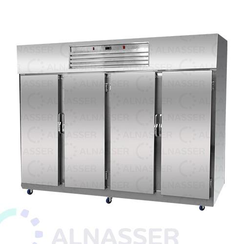 ثلاجة-تخزين-عامودية-4أبواب-أمام-5أرفف-upright-stainless-steel-fridge-refrigerator-alnasser-factories